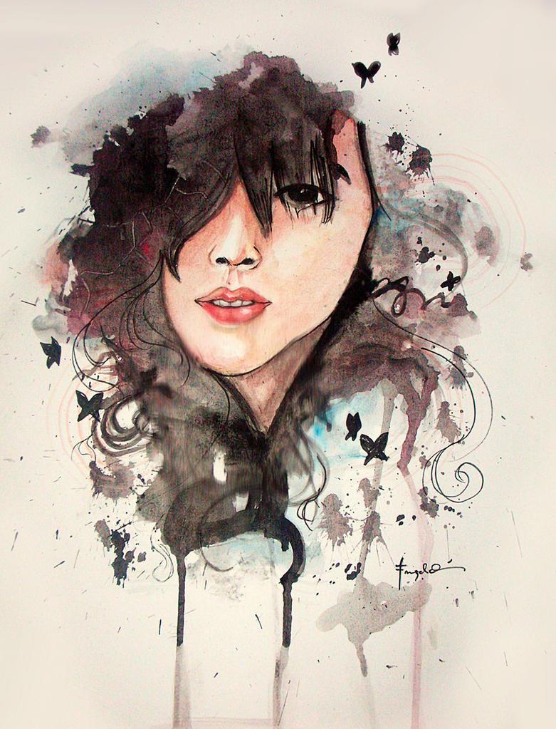 Just a self-portrait~ by strawberriiyhab