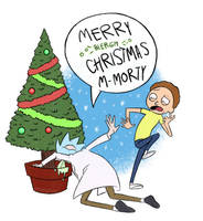 Rick and Morty Christmas by Mooghin