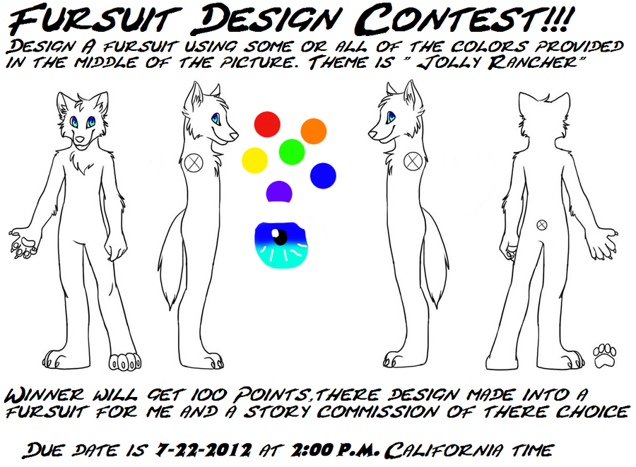 Fursuit Design Contest[EXTENDED][CLOSED] by JuggaletteLife