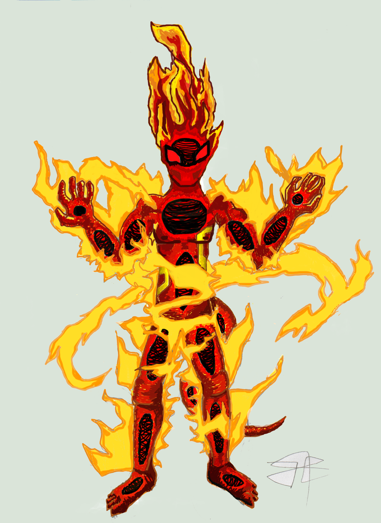Anime Characters Using Fire : Fire elemental character by bariosu on deviantart