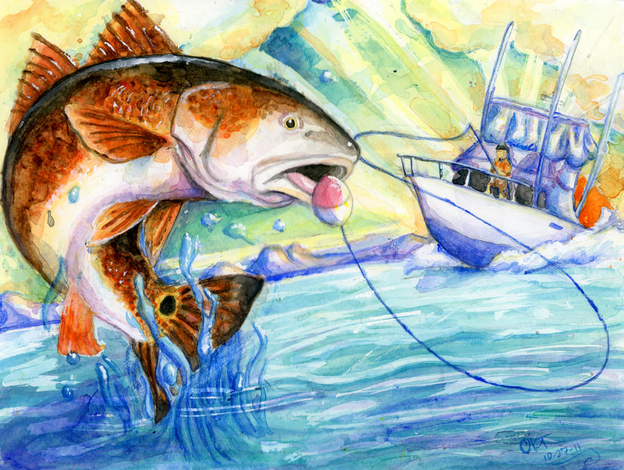 Redfish by shinkami on deviantart for Red fish pictures