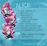 Alice character sheet