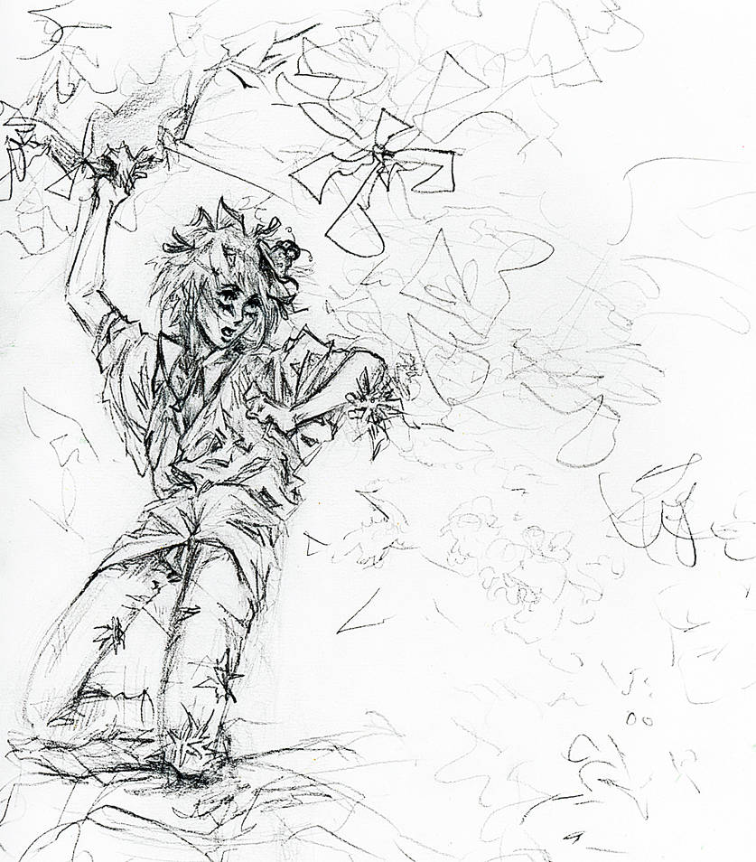 Plant Boy vs. Caterpillar by Shinkami
