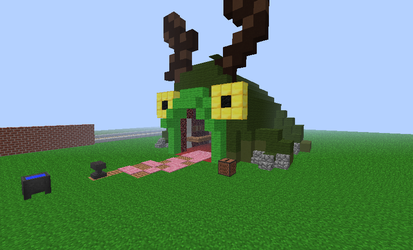 weapon frog from castle crashers in minecraft
