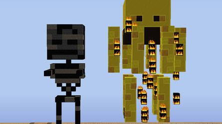 wither skeleton and blaze
