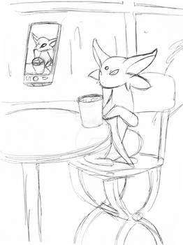 Espeon @ Cafe WIP