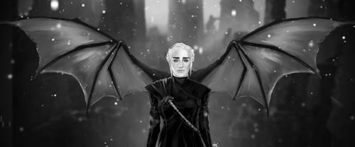 Daenerys Targaryen (dragon wings) by AlonsoAlatriste