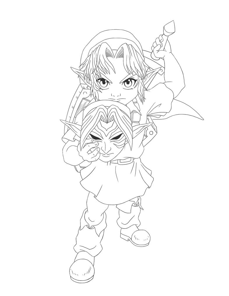 Coloring page Missing Link 5 | 1017x786
