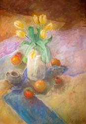 Yellow tulips by NelEilis