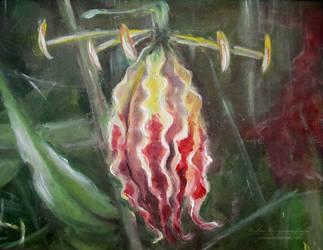 Gloriosa superba flower by NelEilis