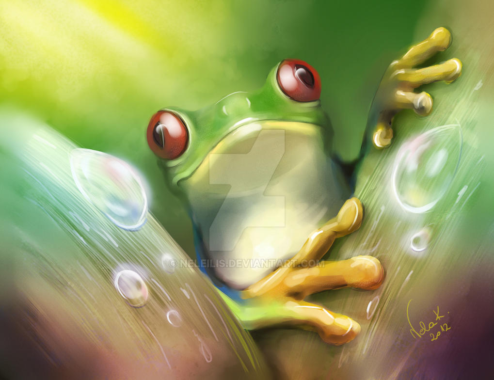 Tree frog by NelEilis