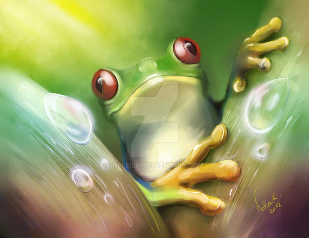 Tree frog by NelEilis