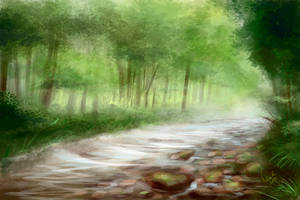 Forest speedpainting by NelEilis