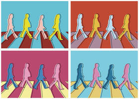 Abbey Road Andy Warhol style by NelEilis