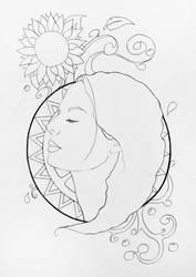 Summer Light Lineart by NelEilis