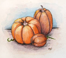 Pumpkins by NelEilis