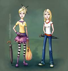 Ebony and Fuchsia Spatterbaum by NelEilis