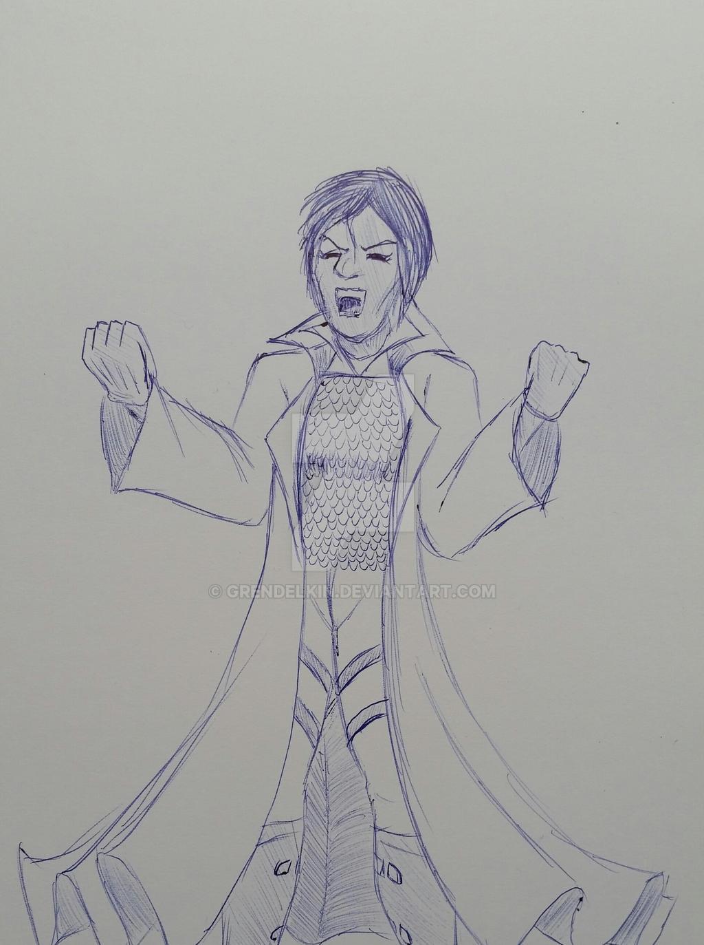 Cold doodle . 3 by Grendelkin