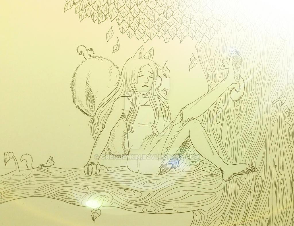 Art Trade: Astral-Chan by Grendelkin
