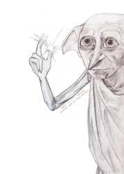 Dobby, The House Elf by heartbreakdi