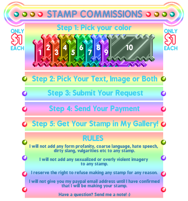 Stamp Commissions Sheet (OPEN FOR COMMISSIONS) by calbhach