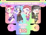 Chibi Commission Sheet (Commissions Open)
