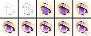 Eye Progression Tutorial Collaboration - Amethyst