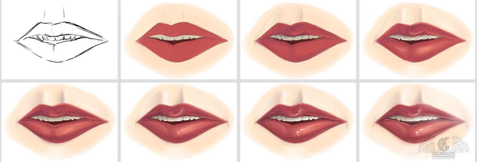 Mouth Progression Tutorial by calbhach