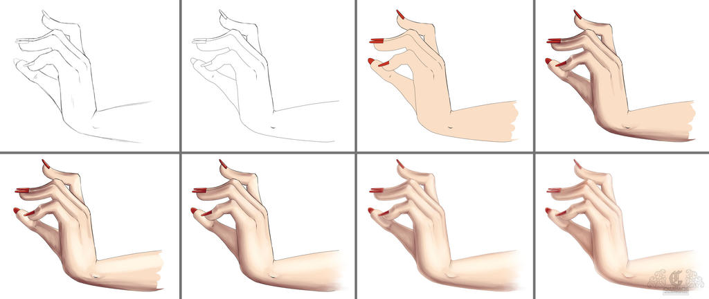 Hand Progression Tutorial by calbhach