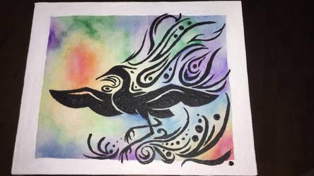 Painted Heron by Dragon-Princess1023
