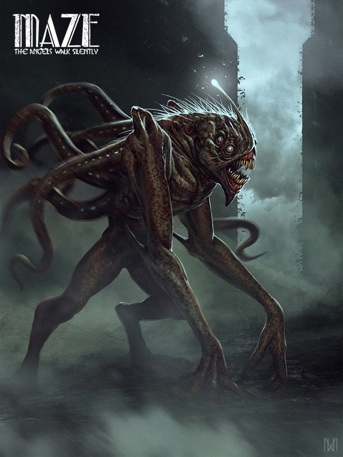 Maze The Angels Walk Silently monster by norbface