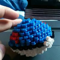 3D pokeball greatball pokemon perler