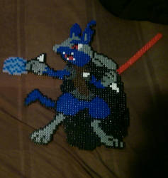 sith lord lucario star wars Pokemon mix perler