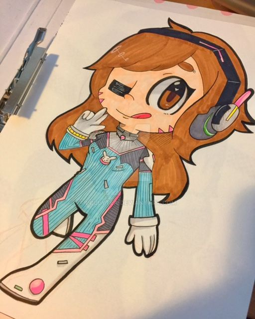 Nerf this! [D.va Chibi] by Lollytea