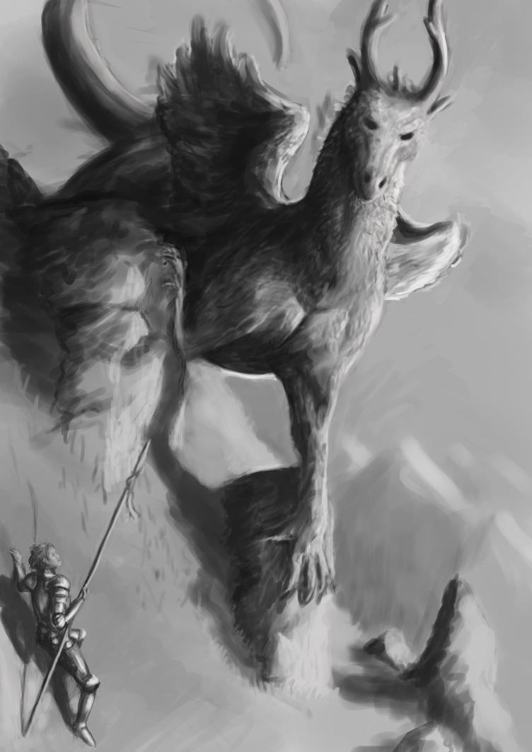 dragon work in progress by Jack-Kirby-Crosby