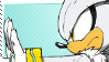 Silver The Hedgehog Stamp. by Kyaatto