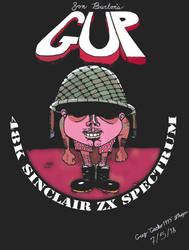 ZX Spectrum Game: Gup Custom Cover by Gecko1993