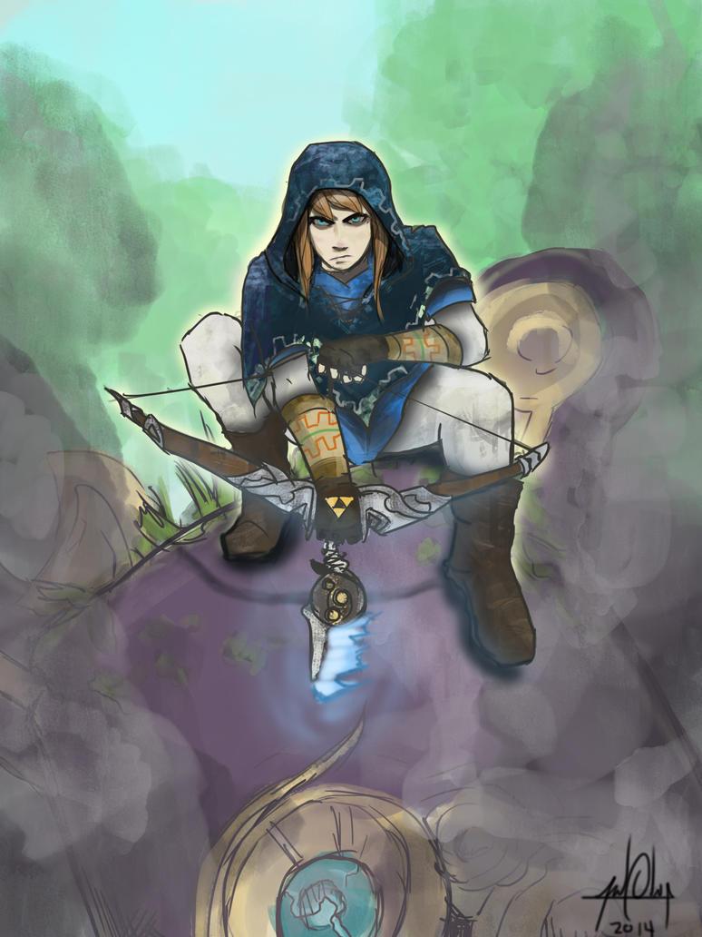 new Zelda bow link by Ahoynateo