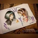 Lavender Haku and Chihiro (fanart)