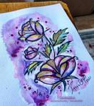 Lovely Rose Bouquet - original watercolour paintin