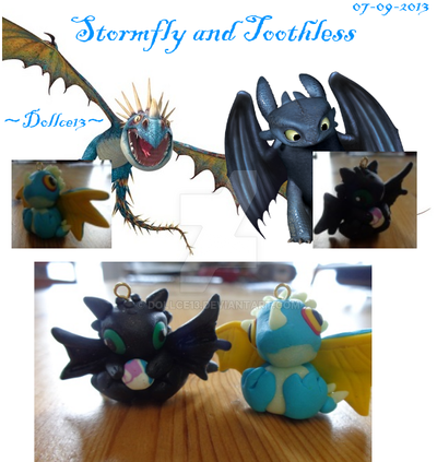 Stormfly and Toothless by DOLLce13