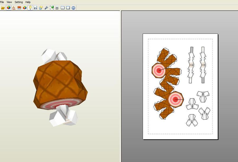 Meat papercraft by aardonix