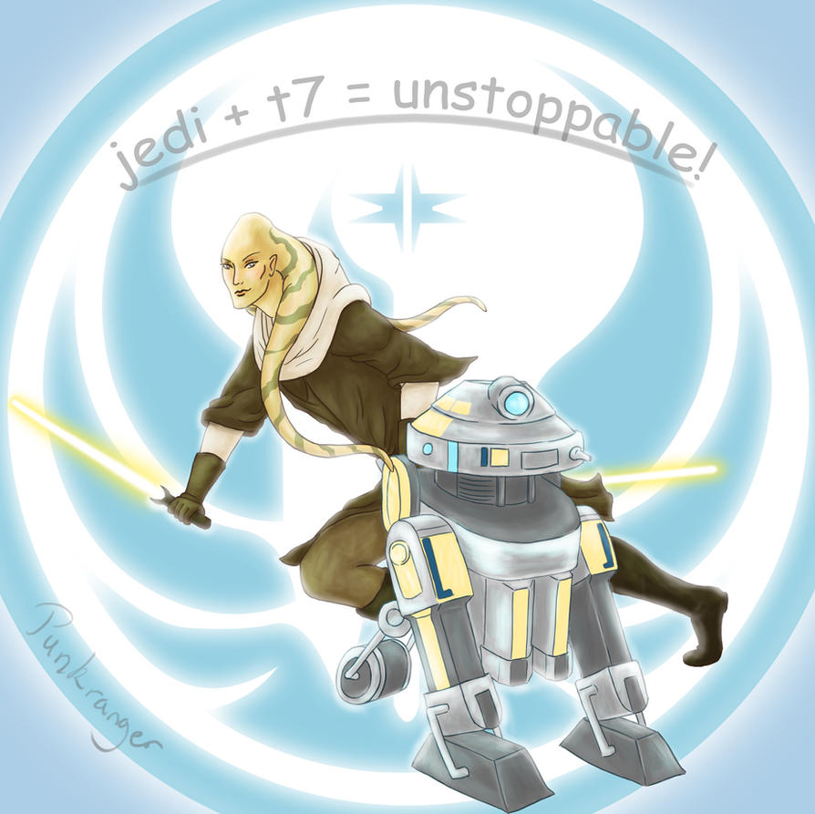 Jedi + T7 = Unstoppable! by PunkRanger