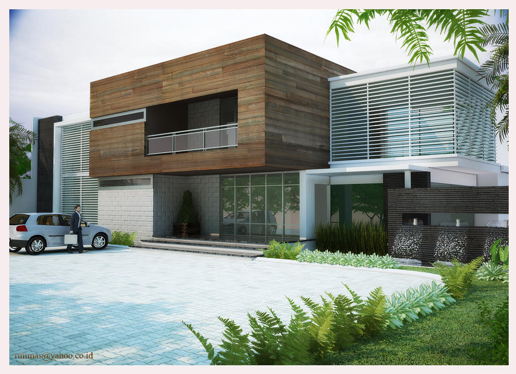 Exterior office 2 by rullyart on deviantart for Home design exterior ideas in india
