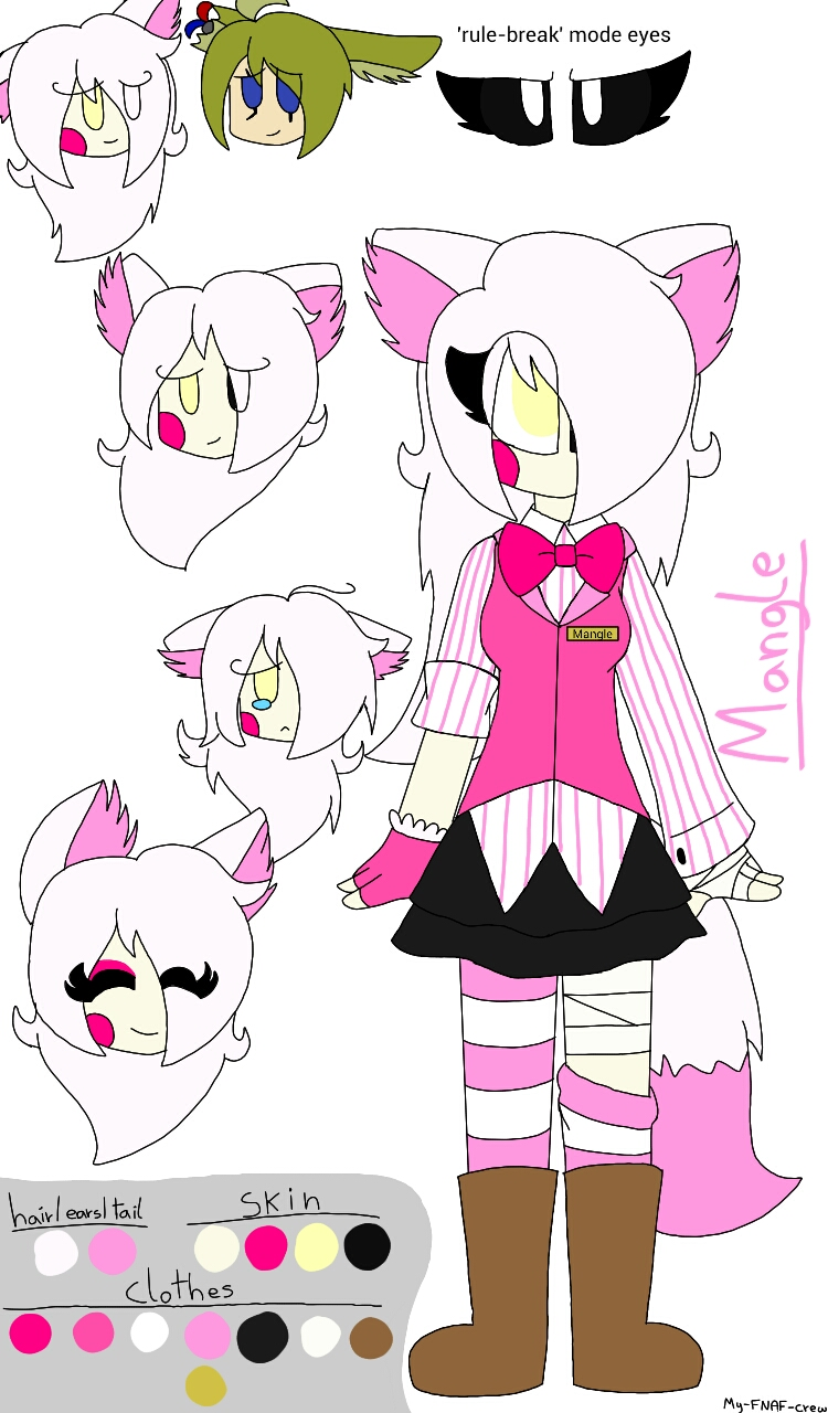 My Fnaf Human Style Mangle By My Fnaf Crew On Deviantart