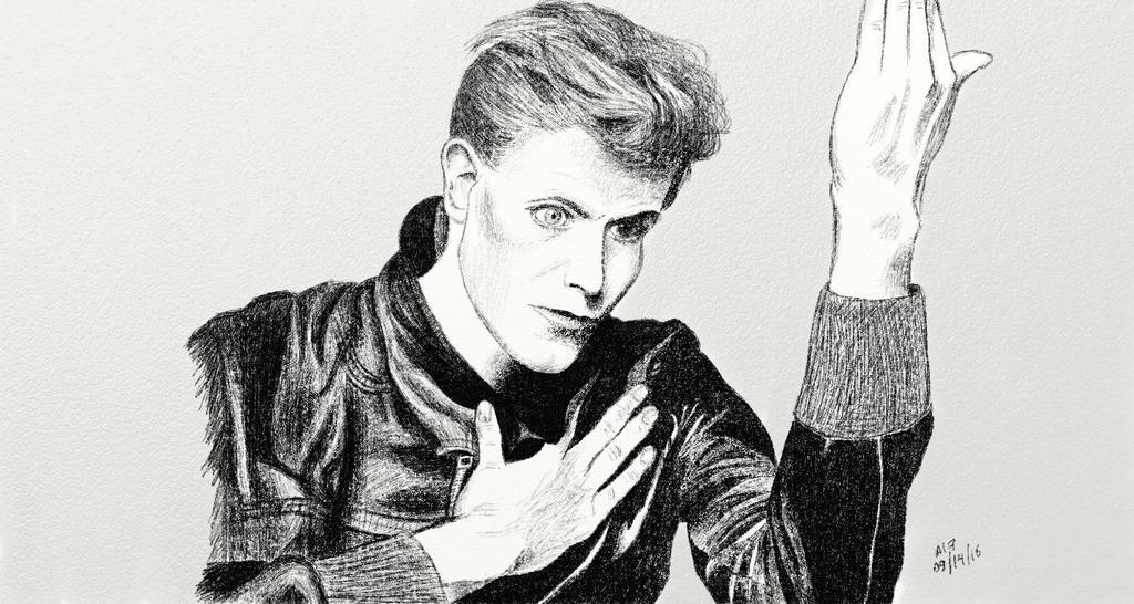 Bowie / Heroes by biarockbell