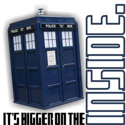 IT'S BIGGER ON THE INSIDE. by PeridotPangolin