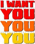 I WANT YOU by PeridotPangolin