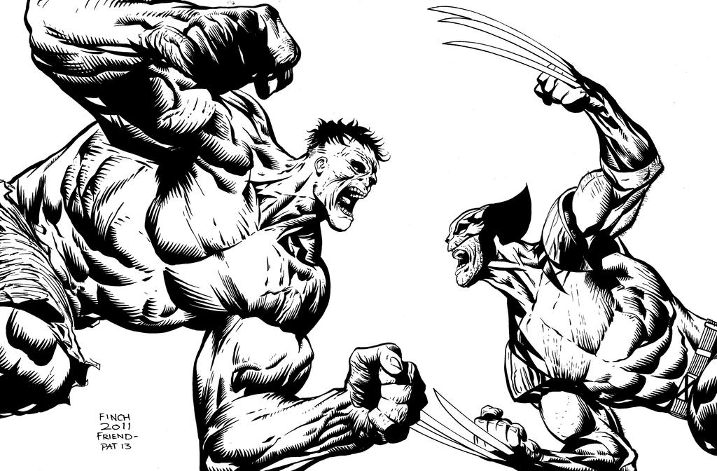 Hulk vs Wolverine by inklens on DeviantArt