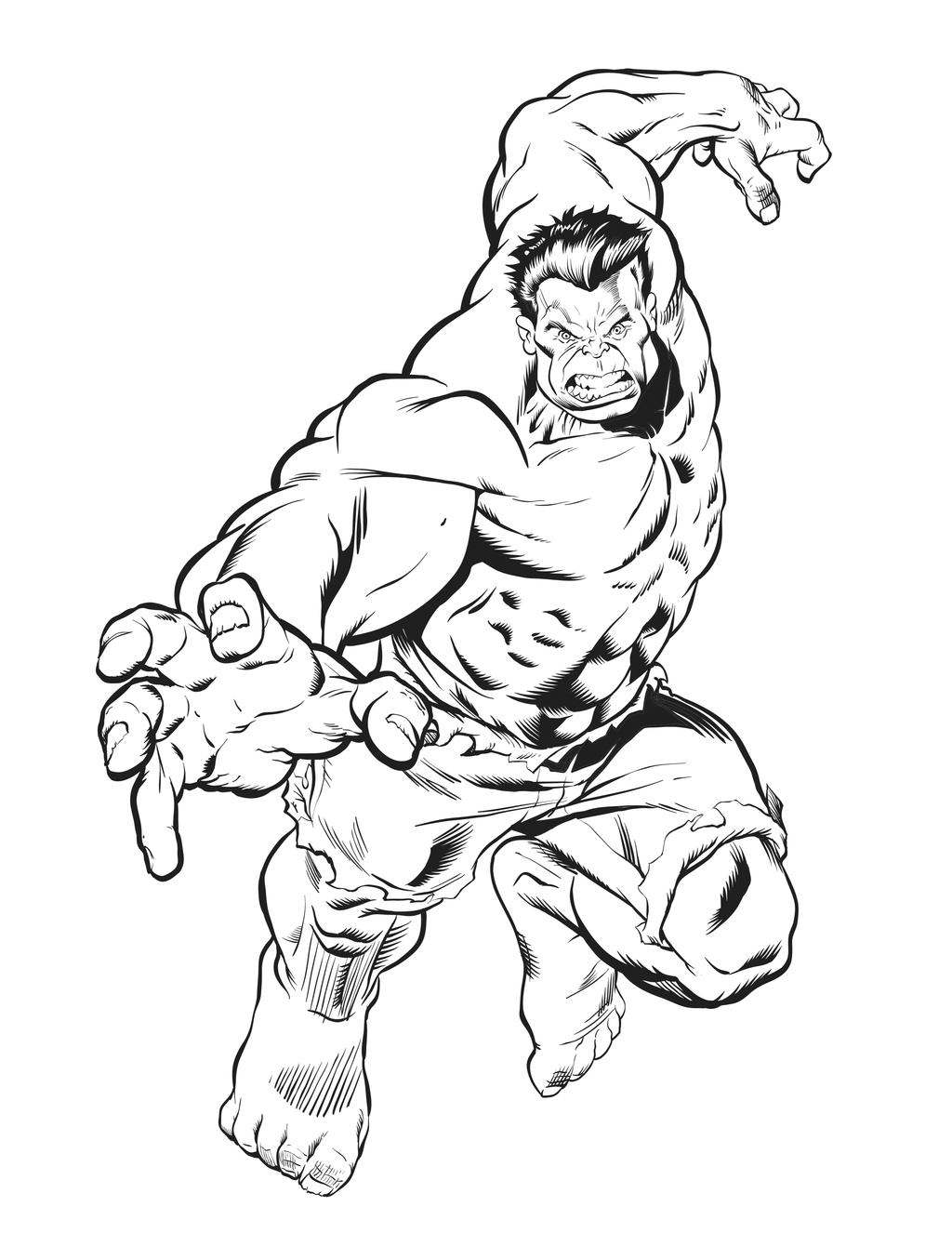 Drawing Red Lines With Green Ink : Hulk digital inks by inklens on deviantart